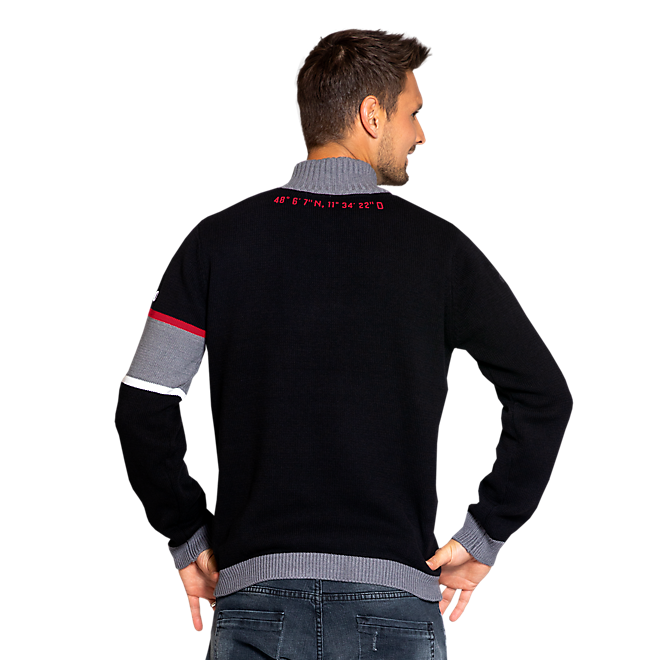 Knitted Half-Buttoned Pullover Rekordmeister