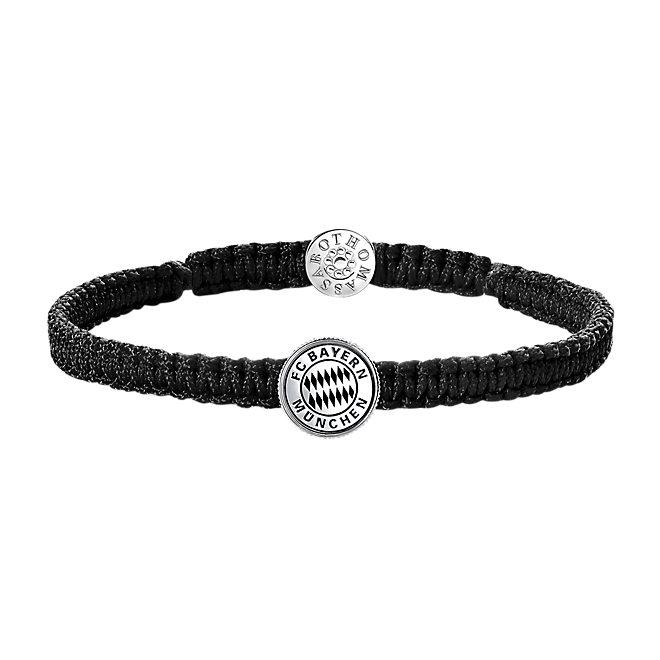 thomas sabo armband schwarz offizieller fc bayern fanshop. Black Bedroom Furniture Sets. Home Design Ideas