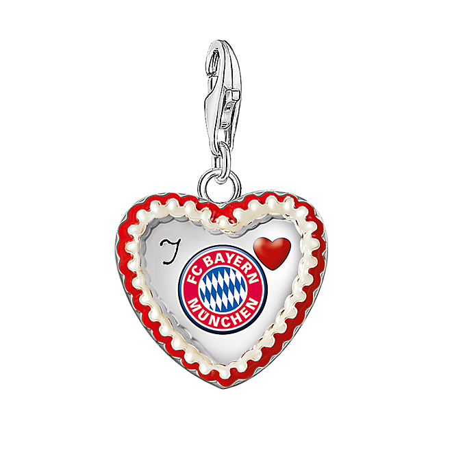 thomas sabo charm lebkuchenherz offizieller fc bayern. Black Bedroom Furniture Sets. Home Design Ideas