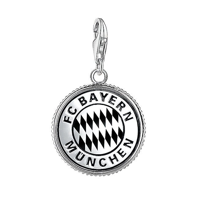 thomas sabo charm logo silber offizieller fc bayern fanshop. Black Bedroom Furniture Sets. Home Design Ideas