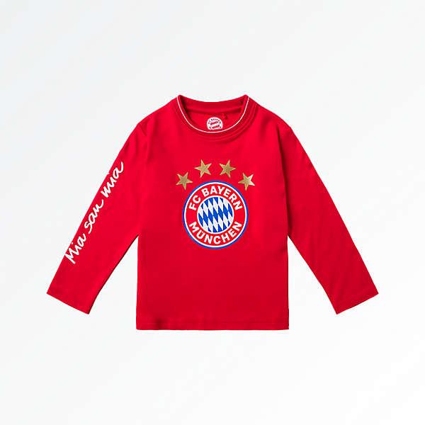 Camiseta de manga larga para bebés con escudo