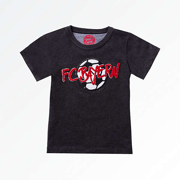 Baby T-Shirt Football Anthracite