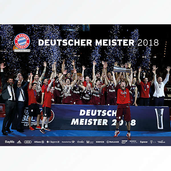 Basketball Poster German Champion 2018
