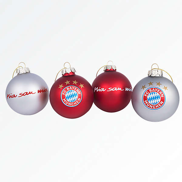 Christmas Baubles 7cm Set of 4