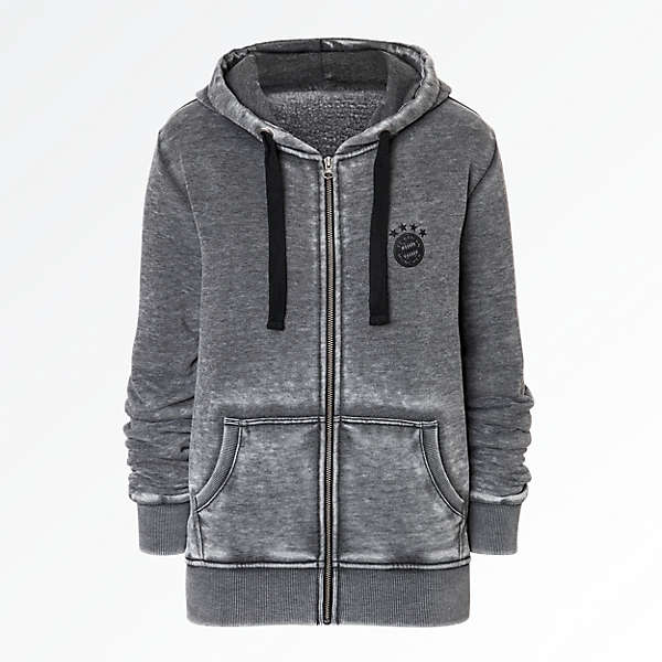 Hooded Jacket Black Logo Lady