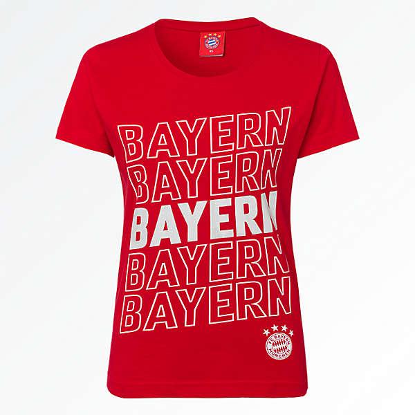 Damen T-Shirt Bayern Glitzer