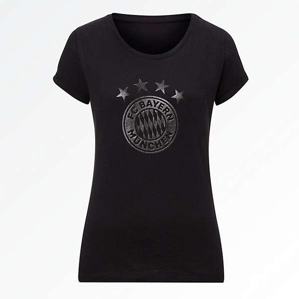 Damen T-Shirt Black Logo