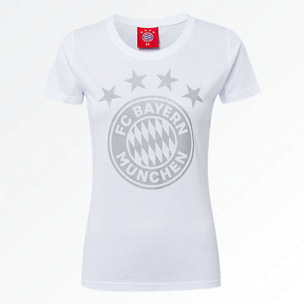 Women's T-Shirt Glitter Logo White