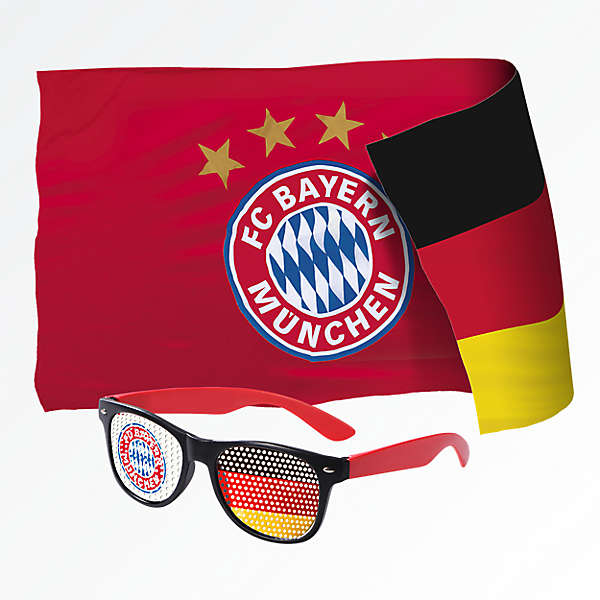 Fan-Set WM (Brille und Fahne)