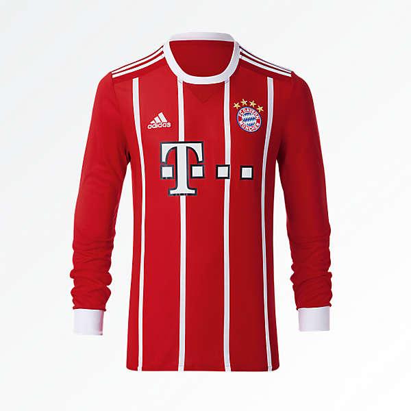 FC Bayern Kids Shirt Home Longsleeve 17/18