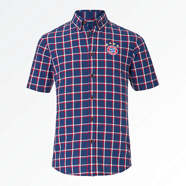 Short-sleeve Checked Shirt