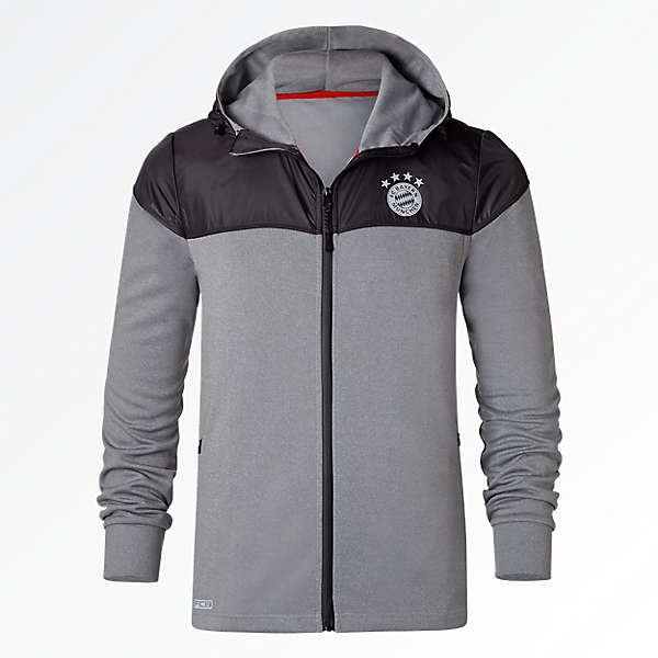 Hooded Zip-Jacke FCB Sports anthrazit
