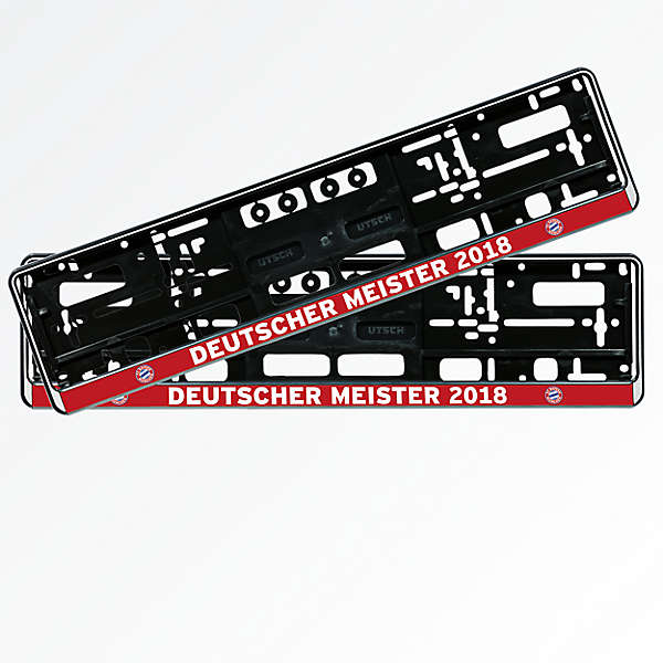 License Plate Holder Set of 2 German Champions 2018
