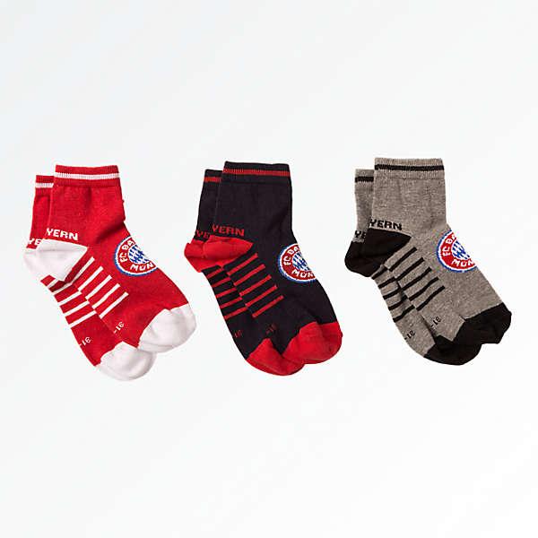 Kinder Sneaker-Socken 3er-Set