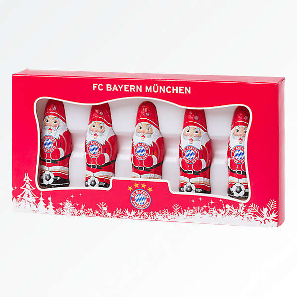 Set de 5 mini Papás Noel de chocolate