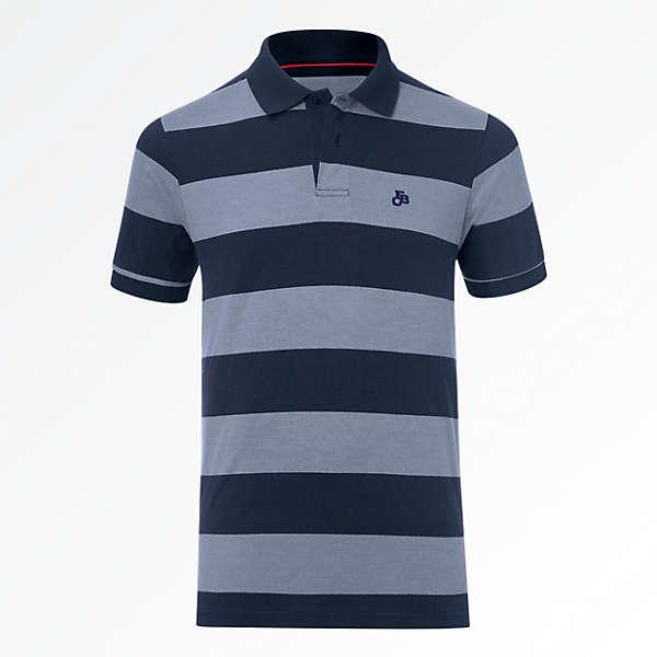 Striped FCB Polo Shirt
