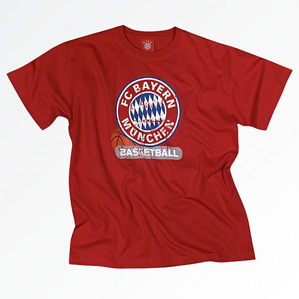 T-Shirt Basketball logo red