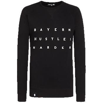 Basketball Sweatshirt Hustles Harder Kids