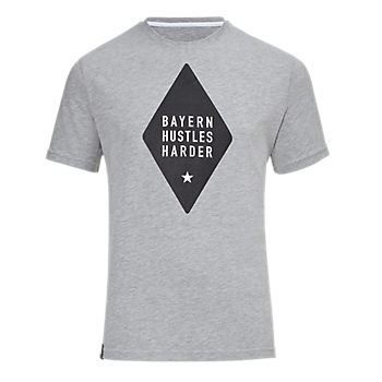 Basketball T-Shirt Bayern Hustles Harder grey
