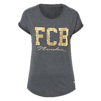 Damen T-Shirt FCB München anthrazit