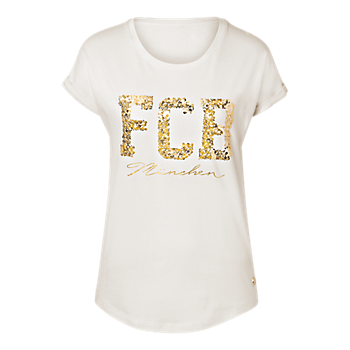 "T-Shirt Lady ""FCB München"" offwhite"