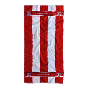 Duschtuch Rot/Weiß