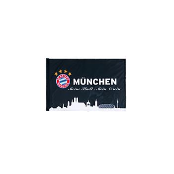 Flag München black 60 x 40 cm with stick