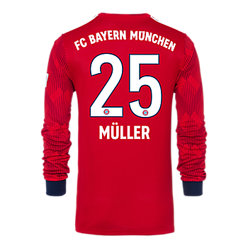FC Bayern Kindertrikot Home Langarm 18/19