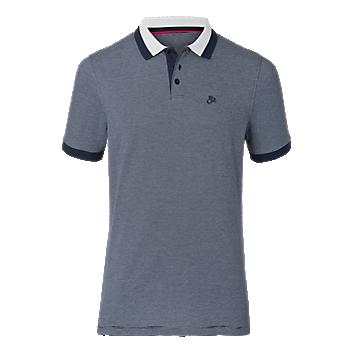 FCB Poloshirt navy/hellgrau