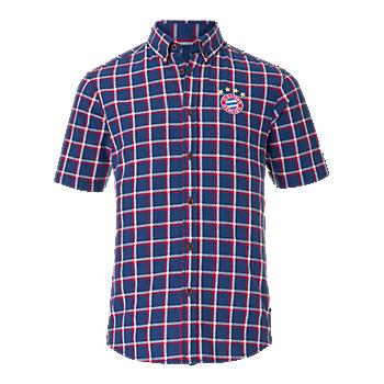 Short-sleeve Checked Shirt