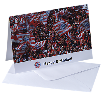 "Card ""Happy Birthday"" (Fans)"
