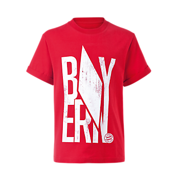 Kinder T-Shirt Raute rot