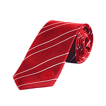 Tie red/white