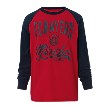 Kids' FC Bayern Long Sleeve T-Shirt