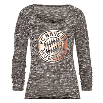 Womens Logo Long-Sleeve Rose-Gold