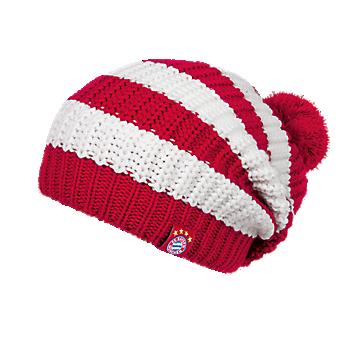 Bobble Hat Stripes red/white