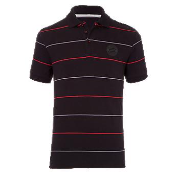 Poloshirt Black Logo Stripes