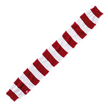 Schal Streifen rot/weiß