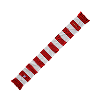 Knit scarf red/white