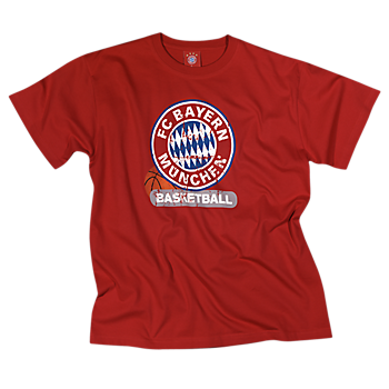 T-Shirt Basketball Logo rot