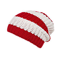 Kids Slouch Beanie red/white