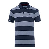 Poloshirt FCB Streifen
