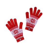 Knitted glove snow