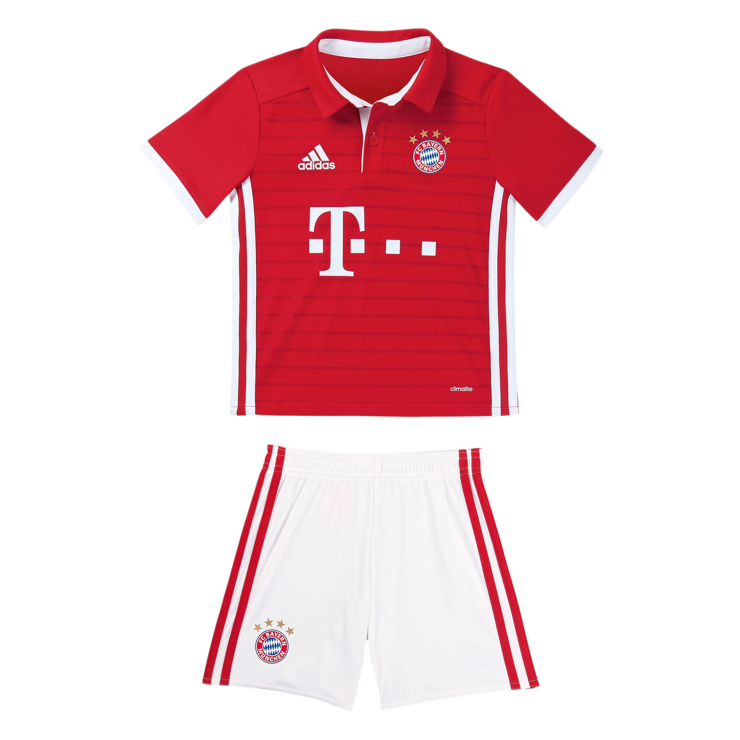 Football com category football kits image sl benfica 1st kit - Fc Bayern Home Shirt Mini Kit